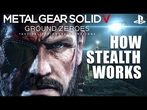Metal Gear Solid V: Ground Zeroes on PS4 - How The Stealth Works [PS4 1080p Gameplay]