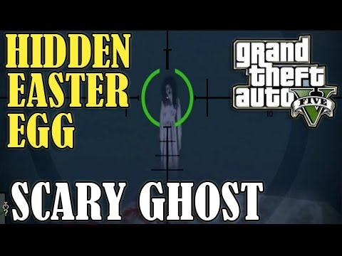 GTA 5 - Scary 'GHOST' Easter Egg Secret! - (Location)