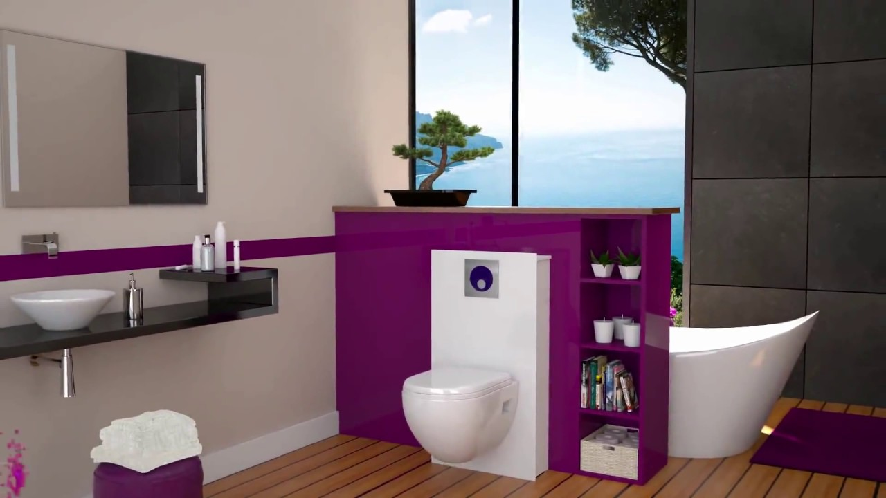 extramuros fr l 39 habillage deco pour wc suspendus youtube. Black Bedroom Furniture Sets. Home Design Ideas