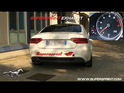 Audi A5 2.0 TFSI Sound with Supersprint catback exhaust
