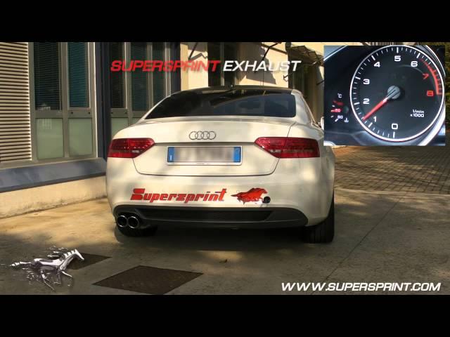Audi A5 2.0 TFSI Sound with Supersprint catback exhaust