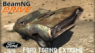 BeamNG DRIVE crash test mod car 1970 Ford Torino Extreme