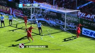 Gol de Penco.Independiente 1 Racing 1.Fecha 5.Torneo Primera División 2014.FPT