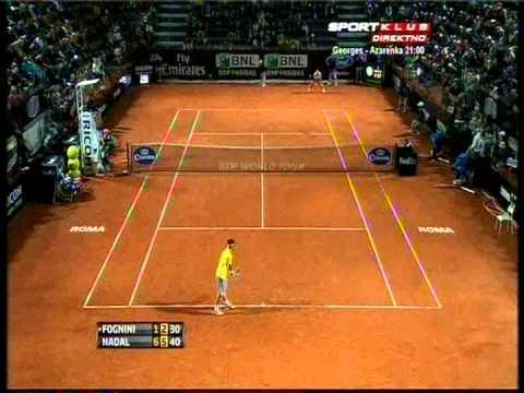 Rafael Nadal vs Fabio Fognini - ATP Rome 2013. Highlights (bojan svitac)