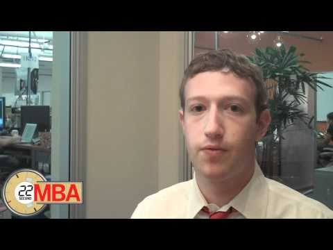 "30 Second MBA: Mark Zuckerberg CEO of Facebook ""How do you generate innovation?"""