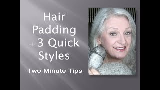 Hair Padding + 3 Fast & Easy Hairstyles for Any Occasion Including Bridal - I  from twominutetips