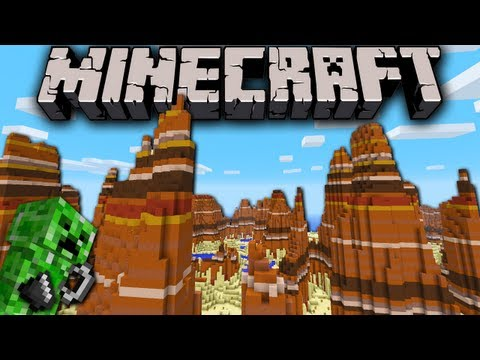 Minecraft 1.7 Snapshot: Mesa Bryce Secret Feature Ignite Creeper Bonemeal Ninja Fish Fix Biomes