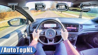 2019 VW T ROC 2.0 TSI 4Motion R LINE POV Test Drive on HIGHWAY & ROAD by AutoTopNL