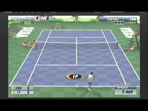 Tim Henman vs Patrick Rafter Sega Sports Tennis (Tokyo Skyscraper Match) video game simulation