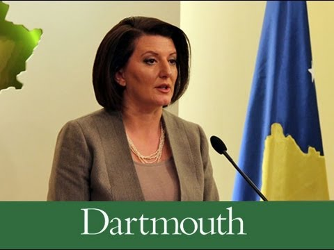 President of the Republic of Kosovo Lectures at Dartmouth