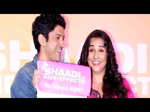 Vidya Balan & Farhan Akhar launch the trailer of Shaadi Ke Side Effects