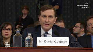 WATCH: Counsel Daniel Goldman's full opening presentation | Trump impeachment hearings