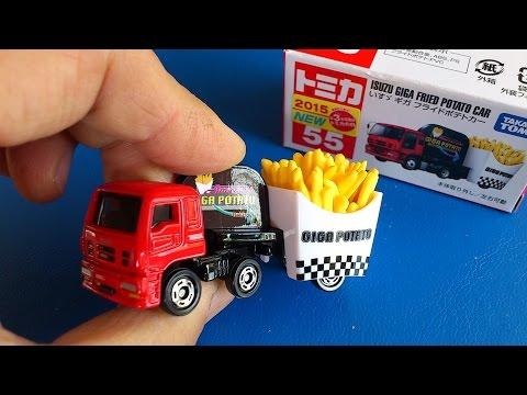 巨大なフライドポテトを運ぶトラック!トミカ働く車シリーズ開封動画