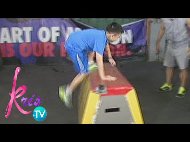 Kris TV: Bimby tries Parkour