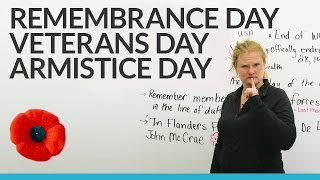 Veterans Day & Remembrance Day