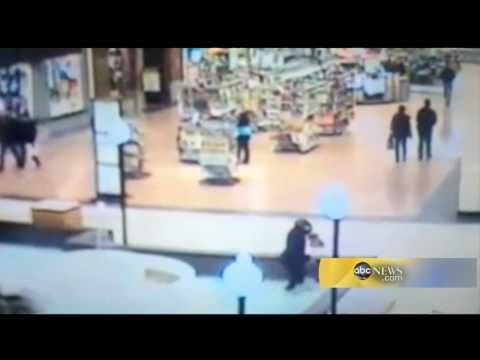 Woman Falls in Mall Fountain While Texting