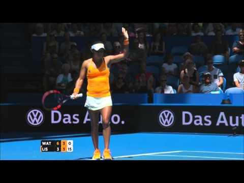Heather Watson v Sabine Lisicki highlights (RR) | Hopman Cup 2016
