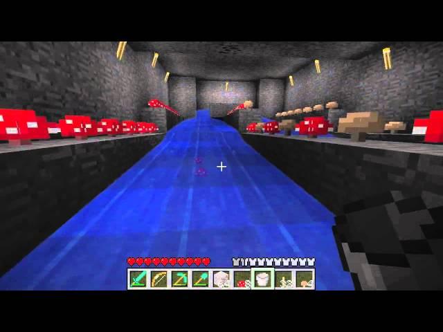 Minecraft Tutorials - 34 - How to Survive & Thrive (Mushroom Farm)