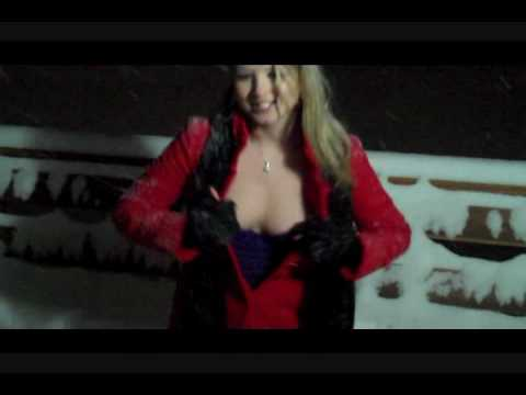 Booble Girl Of The Year Sunny Lane Playing In The Snow!!  Bit Nippy! video