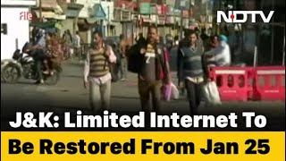 2G Mobile Internet Services To Be Restored In Kashmir After Nearly 6 Months