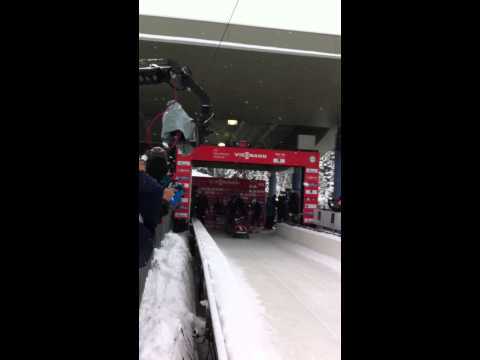 Steven Holcomb start in Park City - 2013