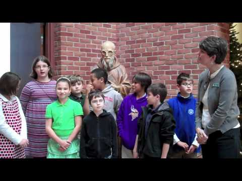 Children visited the Father Solanus Center from the Huron Valley Catholic School