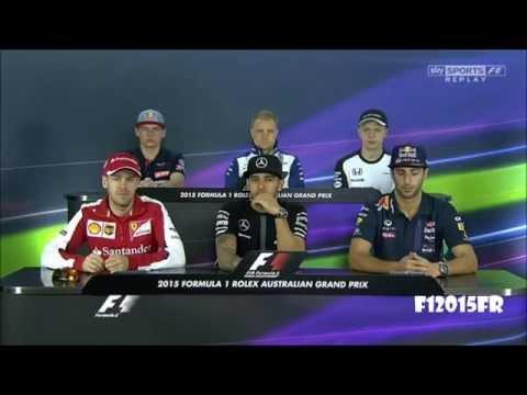 Formula 1 2015 Australian GP Drivers Press Conference