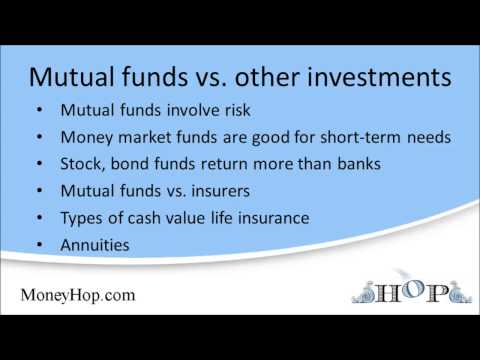 Mutual funds versus other investments