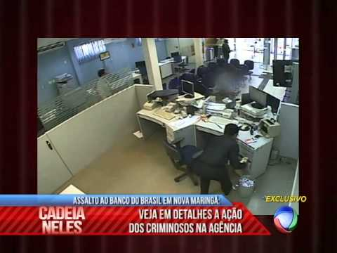 Imagens Exclusivas dos Assaltantes do Banco do Brasil de Nova Maringá