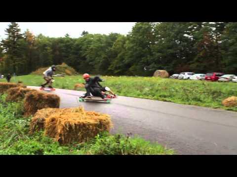 Highview Autumn Bomb II Awesome!! Longboarding Race Full cut
