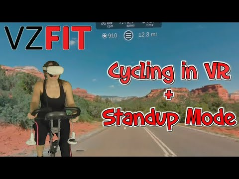 VZfit VR - Standup mode preview & cycling through Sedona Arizona! + GIVEAWAY