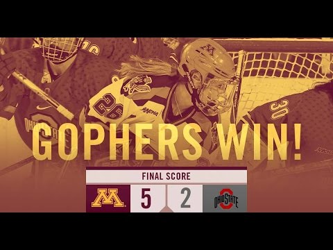 Gophers Score Three in Third for a 5-2 Win against Ohio State