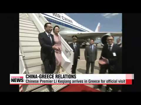Chinese Premier Li Keqiang arrives in Greece