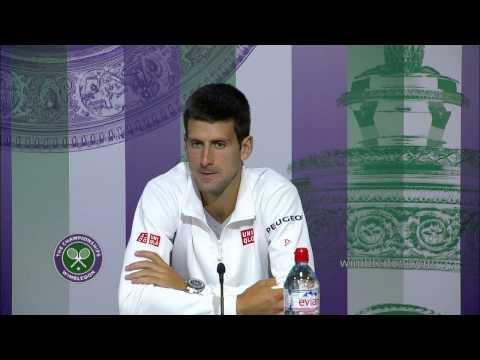 Novak Djokovic pre-final press conference - Wimbledon 2014