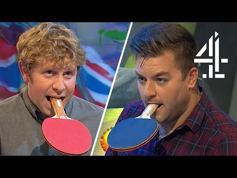 Josh Widdicombe & Alex Brooker Play Mouth Bat Table Tennis | The Last Leg