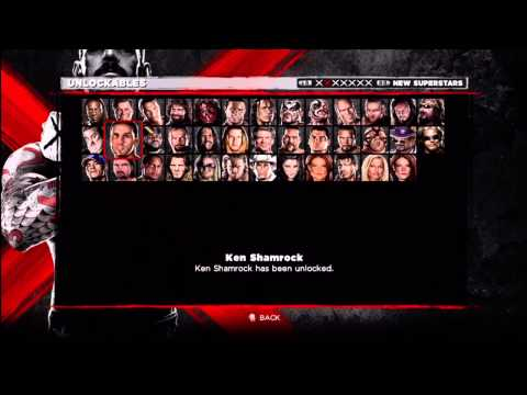 WWE 13 - ALL UNLOCKABLE SUPERSTARS UNLOCKED