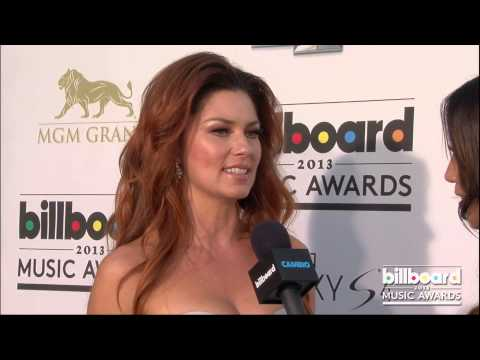Shania Twain on the Billboard Music Awards Blue Carpet 2013
