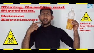 MIXING GASOLIME STYROFOME : SCIENCE EXPERIMENT
