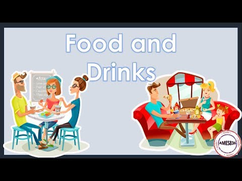 Food and Drinks (with sound) - English Language