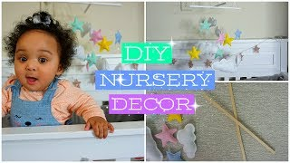 DIY Nursery Decor | Easy Crib Mobile DIY | Baby Girl Room Ideas