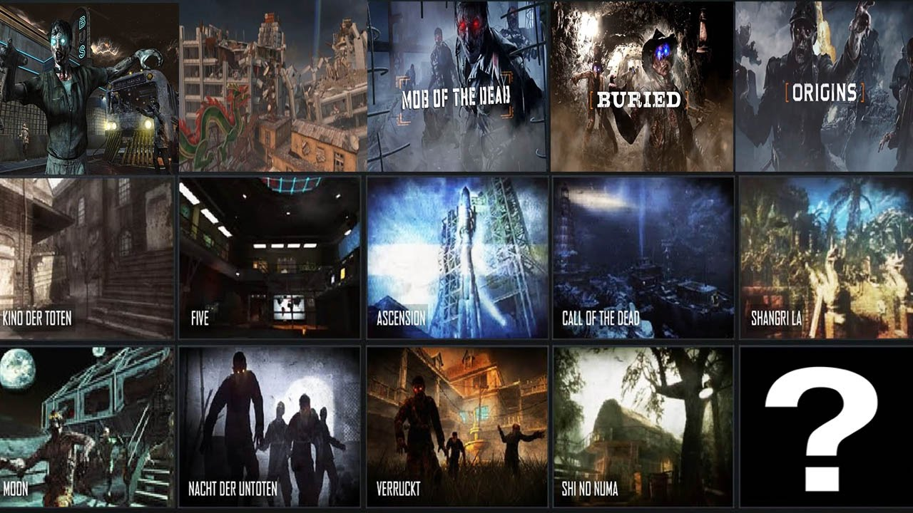 All Zombies Maps Remastered Old Zombies Dlc Maps
