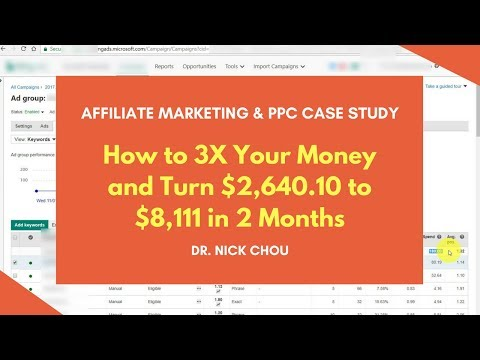 [Affiliate Marketing & PPC Case Study] How to 3X Your Money & Turn $2,640.10 to $8,111 in 2 Months