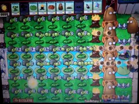 Plants Vs Zombies Cheating on Zombotany 2!!!