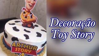 Bolo do Toy Story (utilizando a técnica tendência Fault Line)