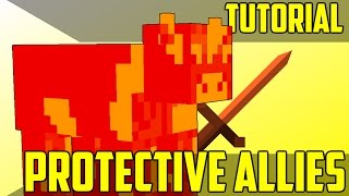 Make Mobs Fight For You (Custom NPCs #1) - Minecraft Command Block Tutorial [1.11][1.10][1.9]