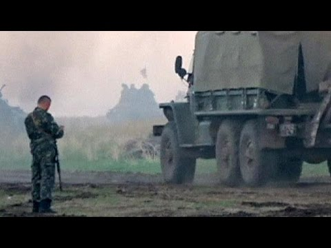 Ukraine: 'armoured convoy from Russia' crosses border
