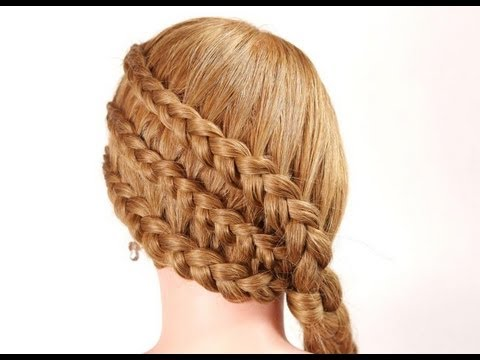 Braided hairstyle for long hair. Hairstyles for every day