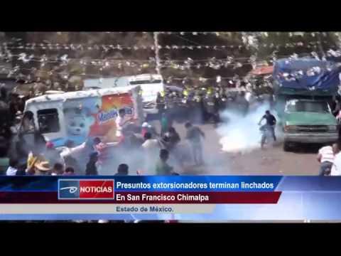 Cd de México.-  Presuntos extorsionadores terminan linchados.  En San Francisco Chimalpa.