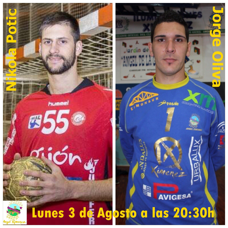 Presentación Jorge Oliva y Nikola Potic como nuevos Jugadores del Angel Ximenez