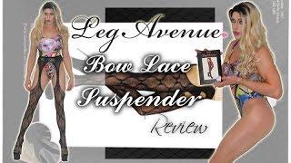 Leg Avenue Bow Lace Suspenders - Pantyhose Reviews | Catch Queen